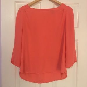 The Limited peach dress blouse